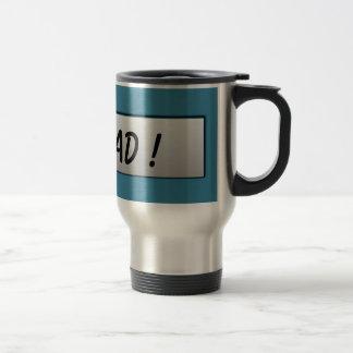#1 Dad! Metal Nameplate Mug