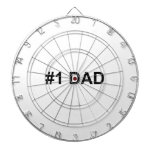 #1 Dad | Number 1 Dad | Happy Father's Day Dartboard