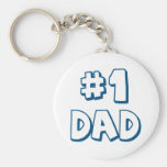 #1 Dad Number One Dad Father's Day Gifts Basic Round Button Keychain
