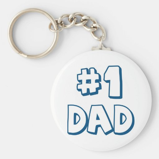 #1 Dad Number One Dad Father's Day Gifts Keychains