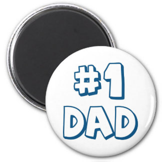 #1 Dad Number One Dad Father's Day Gifts Magnet
