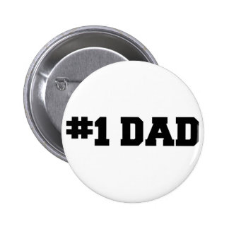#1 Dad | Number One Dad | Happy Father's Day 2 Inch Round Button