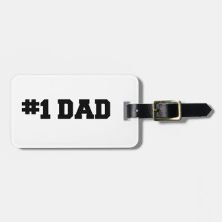 #1 Dad | Number One Dad | Happy Father's Day Luggage Tag