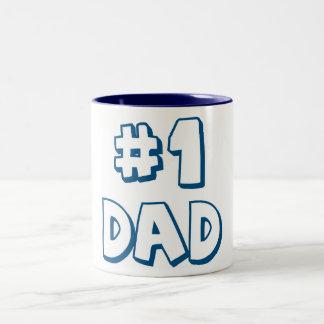 #1 Dad NUmber One Dad Two-Tone Coffee Mug