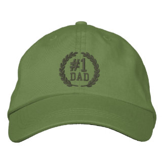 #1 DAD Number One Embroidery Cap