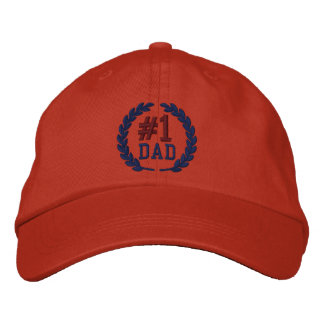 #1 DAD Number One Embroidery Embroidered Baseball Hat