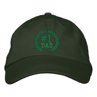 #1 DAD Number One Embroidery Embroidered Baseball Cap