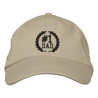#1 DAD Number One Embroidery Embroidered Hats
