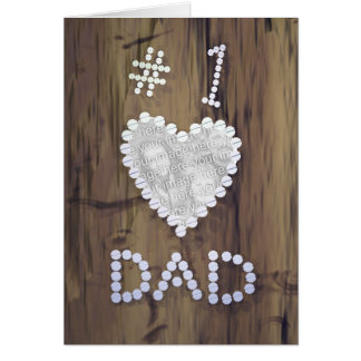 #1 Dad on Wood (photo frame) Cards
