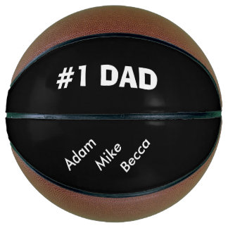 """""""#1 Dad"""" Personalized Basketball"""