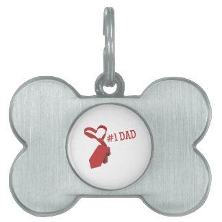 #1 Dad Pet ID Tags