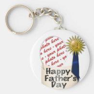 #1 Dad   Photo Frame Basic Round Button Keychain