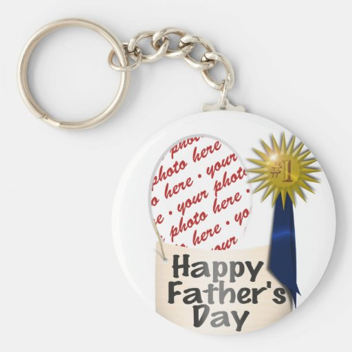 #1 Dad   Photo Frame Keychains