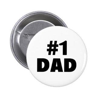 #1 Dad Pinback Button