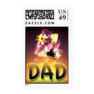 #1 Dad Stamp