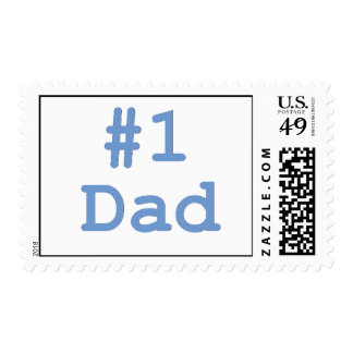 #1 Dad Postage Stamps
