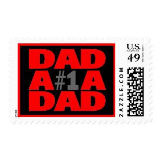 #1 Dad Postage Stamp