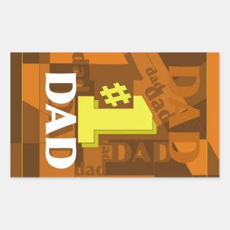 # 1 DAD RECTANGULAR STICKER