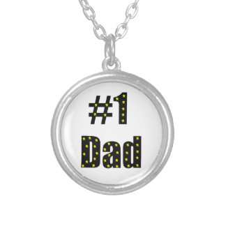 #1 Dad Silver Plated Necklace