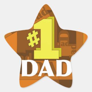 # 1 DAD STAR STICKER