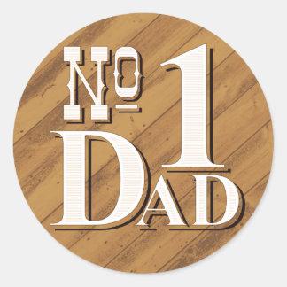 #1 Dad Sticker