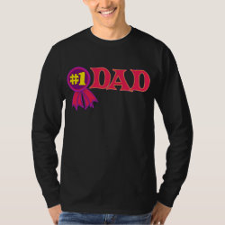 Men's Basic Long Sleeve T-Shirt with #1 Dad Award design