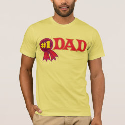 Men's Basic American Apparel T-Shirt with #1 Dad Award design