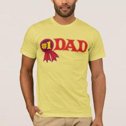 Men's Basic American Apparel T-Shirt with #1 Dad Award design