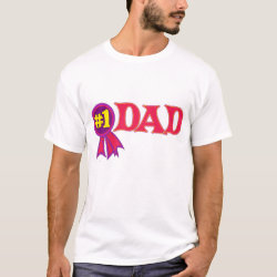 Men's Basic T-Shirt with #1 Dad Award design