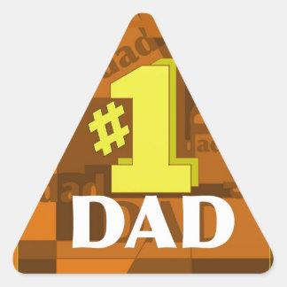 # 1 DAD TRIANGLE STICKER