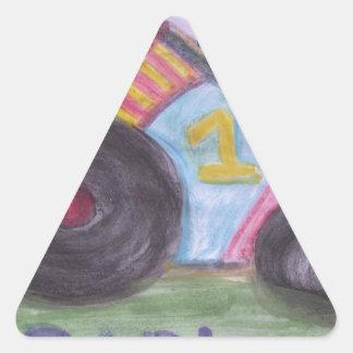 #1 Dad Triangle Sticker