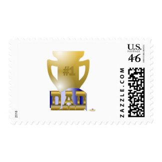 #1 Dad Trophy Stamp