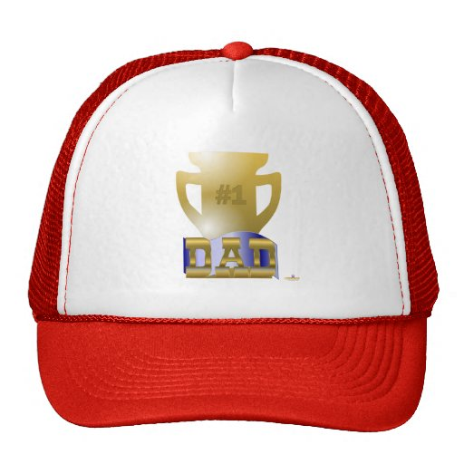 #1 Dad Trophy Trucker Hats