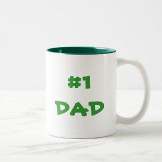 #1 DAD Two-Tone COFFEE MUG