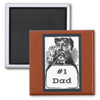 #1 Dad Vintage Drawing Magnet