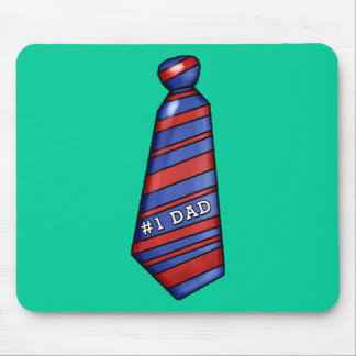#1 Dad with Faux Tie on T-shirts Mouse Pad
