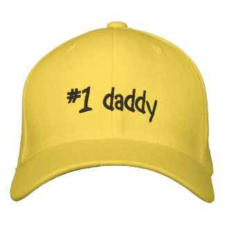 #1 daddy embroidered baseball hat