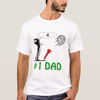 #1 dads mans golf t-shirt