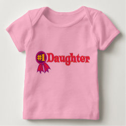 Baby Fine Jersey T-Shirt with #1 Daughter Award design