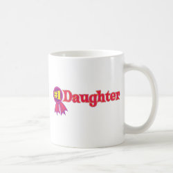 Classic White Mug with #1 Daughter Award design
