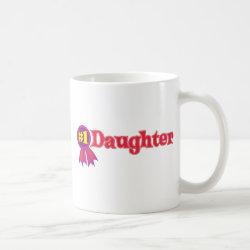 Classic White Mug with #1 Daughter Award design