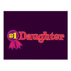 Postcard with #1 Daughter Award design