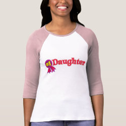 Ladies Raglan Fitted T-Shirt with #1 Daughter Award design