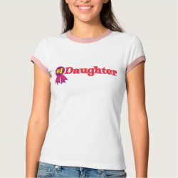 Ladies Ringer T-Shirt with #1 Daughter Award design