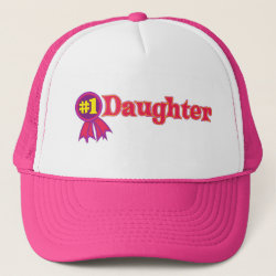 Trucker Hat with #1 Daughter Award design