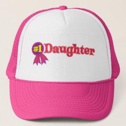 Trucker Hat with #1 Daughter Award design