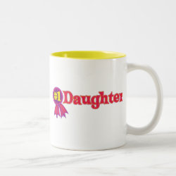 Two-Tone Mug with #1 Daughter Award design