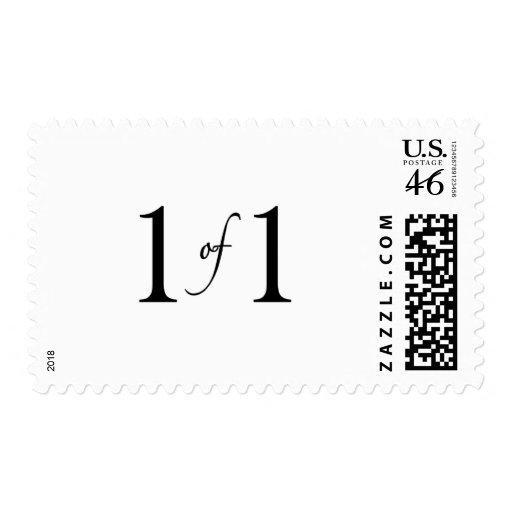 1 de 1 (hijo único) sello