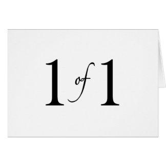 1 de 1 (hijo único) tarjeta de felicitación