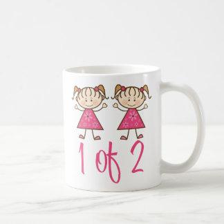1 de 2 chicas rosados taza de café